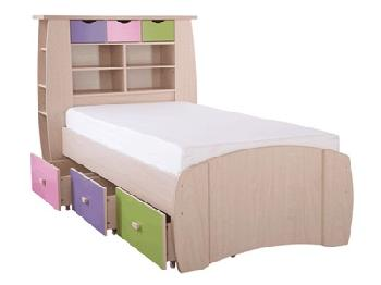 GFW Sydney Pastel Storage Bed 3' Single Pastel Kids Bed