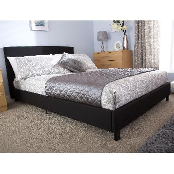 GFW Upholstered Bed in a Box Single Black
