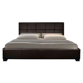 Giomani Mason Faux Leather Ottoman Bed Frame in Brown - Double