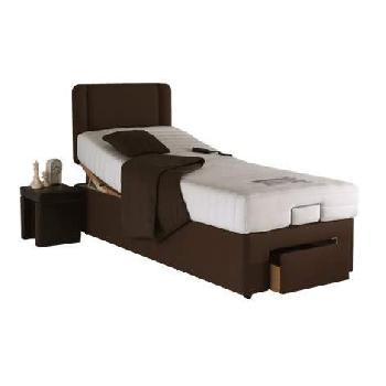 Grace Memory Adjustable Bed Set in Brown Grace Brown Single End Drawer In Mattress Massage No Heavy Duty