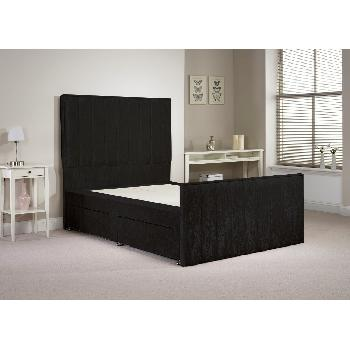 Hampshire Black Double Bed Frame 4ft 6 with 4 drawers
