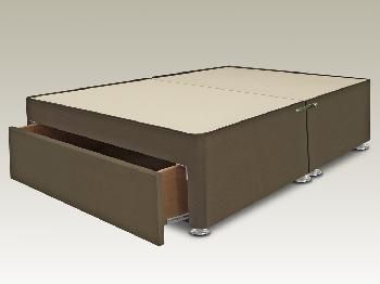 Highgrove Solar Double Cappuccino Faux Suede End Drawer Divan Base