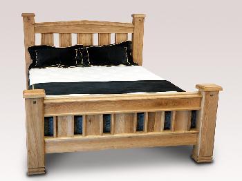Honey B Donny Super King Size Oak Bed Frame King Size Wooden Beds