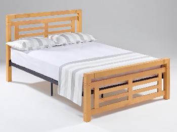 Ideal Furniture Rolo Double Oak Bed Frame Small Double