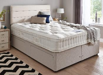 Insignia richmond pocket spring mattress and classic divan for Cheap double divan bed and mattress