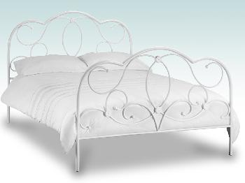 Julian Bowen Arabella Double Ivory Metal Bed Frame