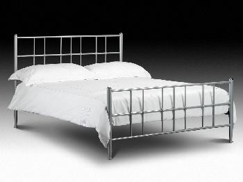 Julian Bowen Braemar Double Silver Metal Bed Frame