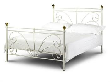 Julian Bowen Cadiz 5' King Size Ivory Metal Bed