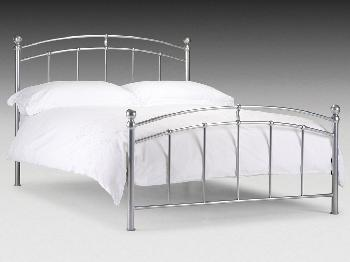 Julian Bowen Chatsworth King Size Silver Metal Bed Frame