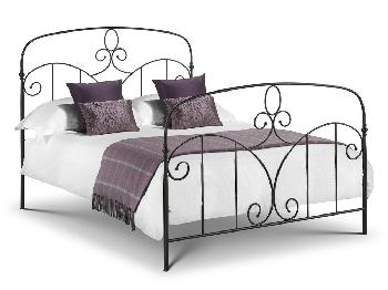 Julian Bowen Corsica Double Black Metal Bed Frame