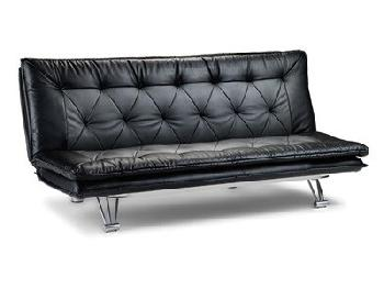Julian Bowen Elan Sofa Bed 3' Single Black and Grey Other Sofa Bed