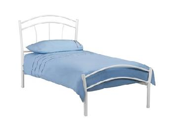 Julian Bowen Miah 4' 6 Double White Metal Bed