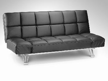 Julian Bowen Nova Black Faux Leather Sofa Bed