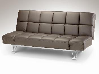 Julian Bowen Nova Brown Faux Leather Sofa Bed