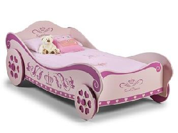 Julian Bowen Princess Charlotte 3' Single Pink Childrens Bed