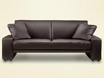 Julian Bowen Supra Brown Faux Leather Sofa Bed