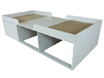 Kidsaw Arctic 3' Single White Cabin Bed
