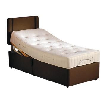 Leanne Memory Pocket Adjustable Bed Set in Beige Leanne Beige Single No Drawer Bolt On Massage No Heavy Duty