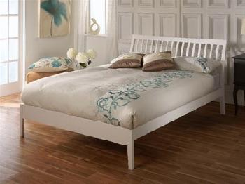 Limelight Ananke 4' Small Double White Wooden Bed