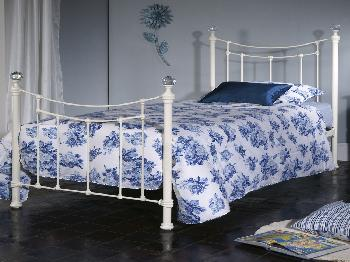 Limelight Metis Double Ivory Metal Bed Frame