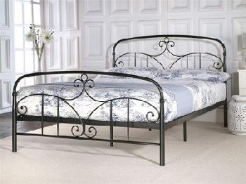 Limelight Musca 4' 6 Double Black Slatted Bedstead Metal Bed