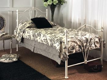 Limelight Nimbus Double Ivory Metal Bed Frame