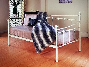 Limelight Sirus Ivory White Metal Day Bed Frame