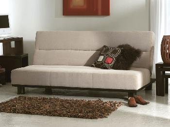 Limelight Triton Beige 3 Seater Sofa Bed