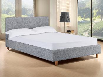 LPD Hartford Single Grey Fabric Bed Frame Single Upholstered Beds