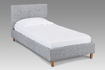 LPD Hartford Single Grey Fabric Bed Frame