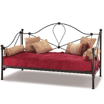 Lyon Small Single Day Bed Black With Guest Bed