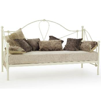 Lyon Small Single Day Bed Ivory Without Guest Bed
