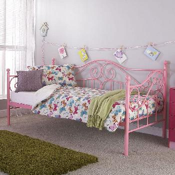 Madison Day Bed With Trundle Pink