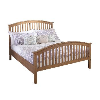 Madrid Natural High End Wooden Bed Small Double