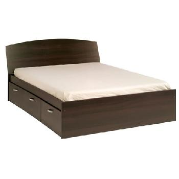 Mat Bed Frame in Coffee Continental Double