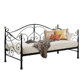 Milano Metal Day Bed - Black