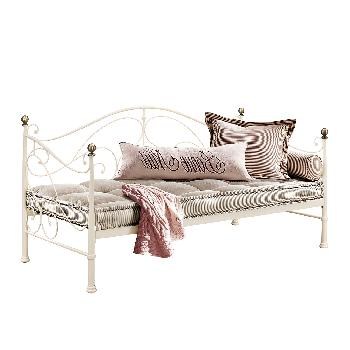 Milano Metal Day Bed - Cream