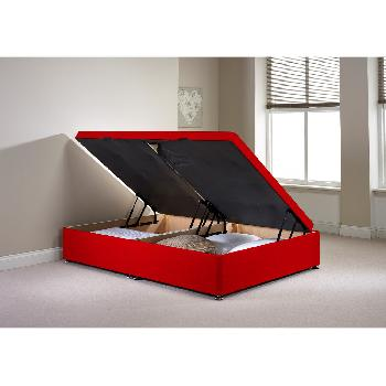 Millbank Ottoman Divan Bed Frame Red Chenille Fabric King Size 5ft