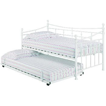 Olivia Metal Day Bed in White