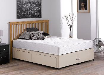 Orchard pocket sprung divan bed firm beige 3 39 0 for Double divan bed with firm mattress