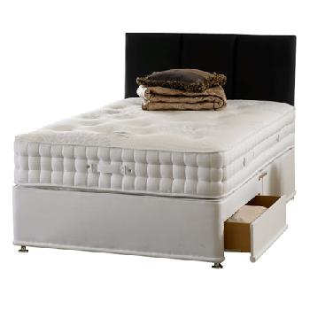 Renaissance 3000 pocket divan set king 4 drawers king for Cheap king size divan