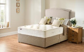Rest Assured Belsay 800 Pocket Ortho Divan Bed, Single, No Headboard Required, No Storage, Sandstone