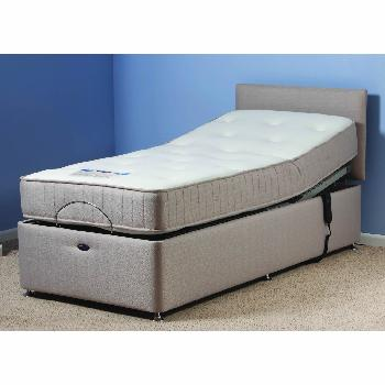 Richmond Beige Adjustable Bed Set with Pocket Sprung Mattress Superking With Heavy Duty With Side Drawers Assembly Included