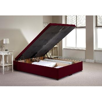 Richworth Ottoman Divan Bed Frame Aubergine Chenille Fabric Double 4ft 6