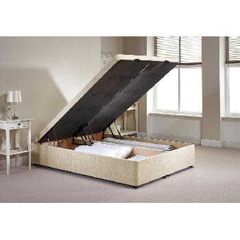Richworth Ottoman Divan Bed Frame Caramel Chenille Fabric Super King 6ft
