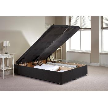 Richworth Ottoman Divan Bed Frame Charcoal Chenille Fabric Double 4ft 6