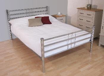 Roma Chrome Metal Bed Frame 4 6 Double Double Metal Beds