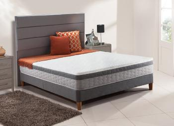 Sealy ambience posturepedic spring divan bed with legs for Double divan bed with firm mattress