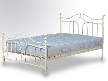 Seconique Keswick Double Cream Metal Bed Frame