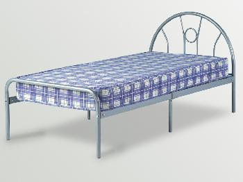 Fine Seconique Nova Single Silver Metal Bed Frame Onthecornerstone Fun Painted Chair Ideas Images Onthecornerstoneorg